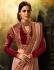 Dusty brown silk Party wear saree
