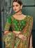Emerald green Banarasi pure silk wedding wear saree