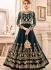 Blue georgette wedding wear salwar kameez
