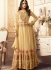 Cream georgette wedding wear salwar kameez