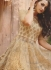 Beige and Gold Wedding Lehenga choli and Sharara -2-in-1-suit