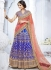 Blue color bhagalpuri silk wedding lehenga