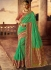 Green and red silk wedding wear saree