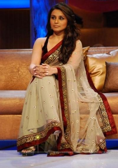 Rani Mukerjee Left Karade Saree