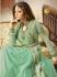 Drashti Dhami fresh green color georgette party wear anarkali kameez