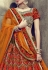 Brown color velvet wedding lehenga