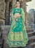 Green designer wedding lehenga