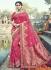 Dark pink silk wedding wear saree