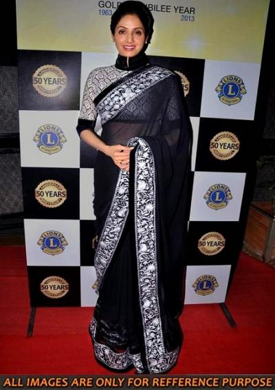Sridevi Black Saree