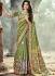 Green color Pure Banarasi Silk wedding wear saree