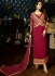 Malaika Arora khan georgette maroon color party wear salwar Kameez