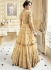 Cream color net party wear Lehenga kameez