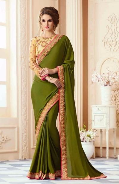 Party-wear-algae-green-designer-sarees-38009
