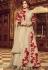 Beige color tafetta silk party wear lehenga style kameez