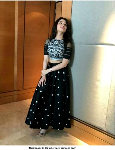 Bollywood Inspired Tamanna Bhatia Tafetta silk Lehenga choli