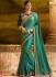 Miraculous resham work green party saree 1164