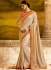 Paramount fancy fabric beige classic party saree 1167