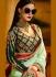 Breathtaking sea green designer suit 1171