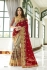 Maroon georgette embroidered party wear saree 88025