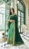 Green georgette embroidered party wear saree 88026