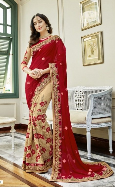 2802a045cb Red-georgette-embroidered-party-wear-saree-88029.jpg
