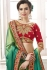 Green georgette party wear saree 8903