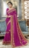 Pink georgette embroidered party wear saree 5616