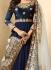 Drashti Dhami Navy blue color georgette party wear anarkali