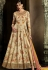 Beige color silk front slit wedding anarkali 11065