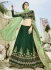 Green and light green silk weding lehenga