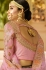 Pink and Navy blue color silk bridal lehenga choli