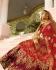 Maroon and red color silk shaded bridal lehenga choli