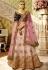 Pink and wine color bridal lehenga