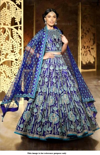 Bollywood Anita Dongre Inspired Royal Blue wedding lehenga
