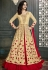 Beige and red color wedding lehenga kameez