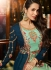 Malaika Arora khan georgette teal green wedding anarkali suit