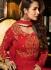 Malaika Arora khan georgette red color wedding anarkali suit
