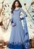Jennifer Winget blue georgette party wear anarkali 1124