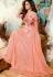Jennifer Winget peach georgette party wear anarkali 1126