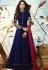 Jennifer Winget blue georgette party wear anarkali 1127