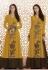 Mustard brown georgette straight cut salwar 1039B