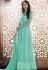 Sea green georgette straight cut salwar 1041A