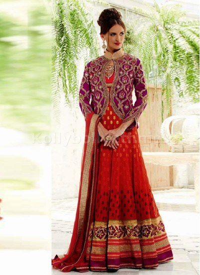BARONIAL BEADS AND LACE WORK LONG LENGTH ANARKALI SUIT