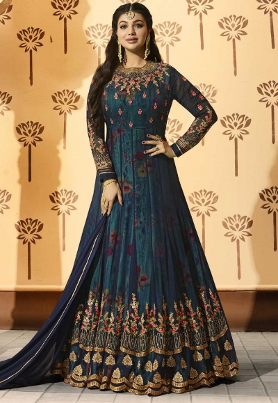 Ayesha Takia Blue color georgette party wear Anarkali