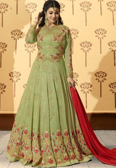 Ayesha Takia Light green color georgette party wear Anarkali