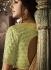 Peach and green dhupion silk wedding lehenga