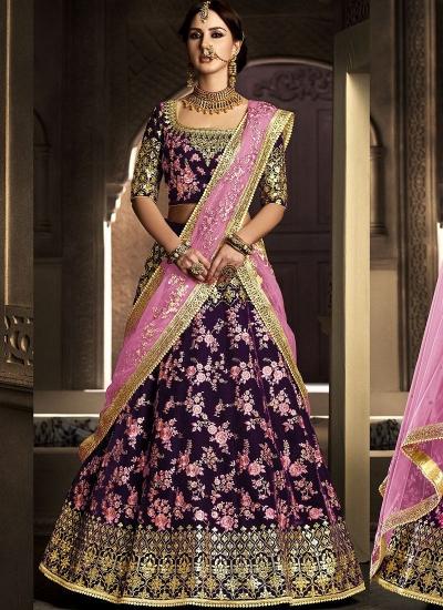 cf57d3d784 Buy Wine color velvet wedding lehenga in UK, USA and Canada