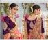 Pink and wine color banarasi silk wedding saree