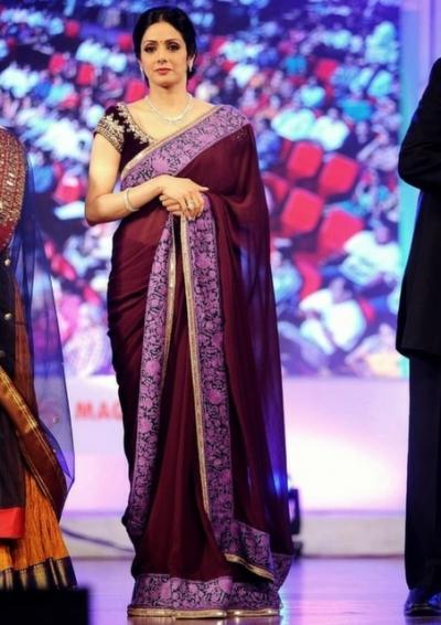 Sridevi national-film-awards presentation function purple saree