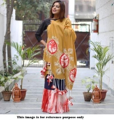 Bollywood Inspired Methi color satin digital print saree